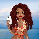 الأميرات الاستوائية وثمر الورد يخيطن ملابس السباحة