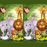 البحث عن الحيوانات سبعة الاختلافات