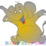 طفل تلوين الفيل