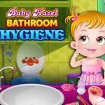 نظافة حمام الطفل عسلي