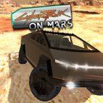 CyberTruck على سطح المريخ