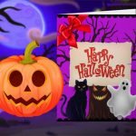 هالوين سعيد – مصمم بطاقة الأميرة