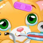 لعبة القط الصغير طبيب الحيوانات الأليفة البيطري