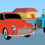تلوين سيارات الموقت القديم