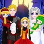 زي الأميرة هالوين الأسرة