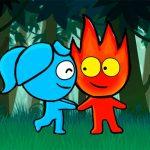 الصبي الأحمر والفتاة الزرقاء مغامرة الغابة