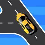 الطريق المنعطف للسيارة