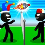 كرة الريشة Stickman Sports