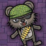 اطلاق النار على الزومبي الدببة ليلا